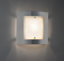 9320 Ultralights Lighting Luz Azul Low Angle Wall Sconce with Acrylic Diffuser