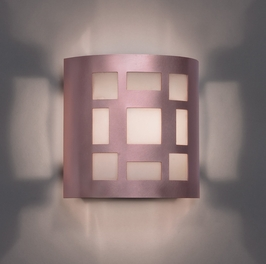 9321 Ultralights Lighting Luz Azul Low Angle Wall Sconce with Cut-Outs