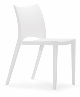 100320 Zuo Modern (Package of 4) Laser Dining Chair in White Finish