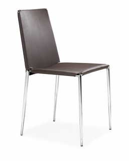 101106 Zuo Modern (Package of 4) Alex Dining Chair in White Finish