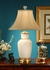 14111 Wildwood Lamps Presidential China Vase Lamp