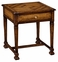 493443 Jonathan Charles Special Order Square Figured Walnut Side Table