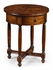 492940 Jonathan Charles Country Farmhouse Parquet Round Lamp Table