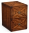 492185 Jonathan Charles Special Order Walnut Two Drawer Filing Cabinet