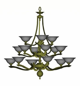 8025 Framburg Lighting Fin de Siecle Fifteen-Light Chandelier