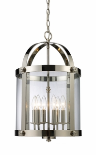 Landmark Chesapeake 6-Light Lantern in Polished Nickel