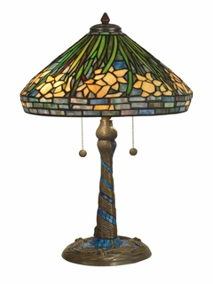 TT10344 Dale Tiffany Daffodil Table Lamp