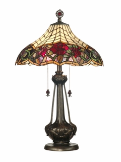 TT60581 Dale Tiffany Autumn Rose Table Lamp