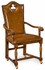 "493388 Jonathan Charles Country Farmhouse High Back Playing Card ""Club"" Chair (Arm)"