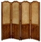 492152 Jonathan Charles Special Order French Caned & Parquet Four Panel Screen