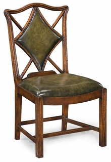 "493362 Jonathan Charles Windsor Playing Card ""Diamond"" Chair (Side)"