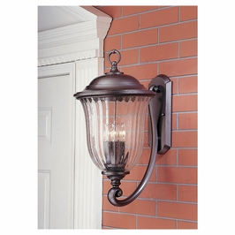 OL2304DAN-DISC Murray Feiss Lanesborough Distressed Antique Nickel Wall Mount Lantern Clearance Item