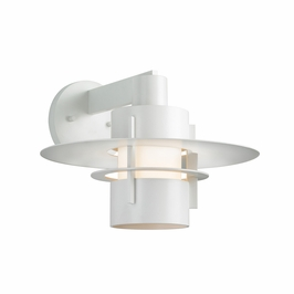 1701.03F Sonneman Architectural Aereo Sconce Comes with Disc in Satin White Finish