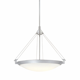 4860.96 Sonneman Modern Origins Luna Mezza Pendant in Textured Silver Finish