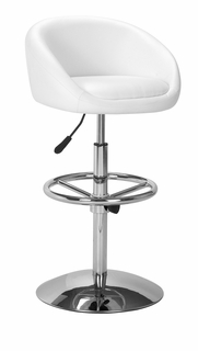 300011 Zuo Modern Concerto Barstool in White Finish