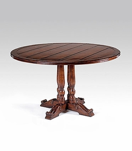 """492367 Jonathan Charles Country Farmhouse French Round Country Dining Table (70"""")"""