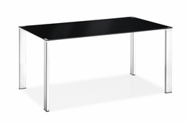 102125 Zuo Modern Slim Dining Table in Black Finish