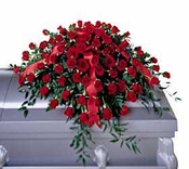 5 Dozen Roses Casket Spray