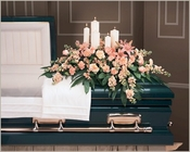 Candle Casket Spray