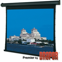 "Draper Premier Electric Projection Screen, Size 60"" x 80"", 100"", NTSC, Pearl White CH1900V, 110 V, with Quiet Motor - 101057Q"