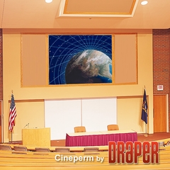 "Draper Cineperm Permanent Wall Projection Screen, Size 45"" x 80"", 92"", HDTV, CineFlex CH1200V (Rear Projection) - 251022"