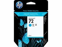 Hewlett Packard No 72 69Ml Cyan Ink Cartridge Designjet T610 T1100 T1100MFP - C9398A