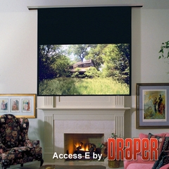 "Draper Access E Electric Projection Screen, Size 69"" x 92"", 10', NTSC, Glass Beaded CH3200E, 110 V, with Low Voltage Controller - 104044L"