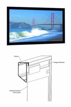 "Da-Lite Cinema Contour Permanent Wall Projection Screen - 50"" x 80"" - HC Cinema Perf - 34630V"