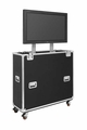 """Jelco EZ-LIFT Shipping and Display TV Lift Case with Storage Lid for 37-46"""" Flat Screen Display: 57""""H x 48""""W x 19""""D - EL-42SL"""