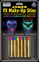 Jumbo FX Make-Up Stix - Neon/Blacklight