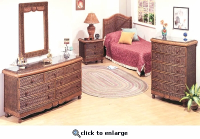 Moroccan Queen Bedroom Set/4 (MF)  (10% Off!)