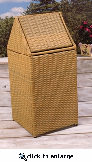 All Weather Wicker Trash Bin (UPS $55)