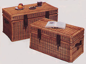 Wicker Steamer Trunks