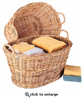 Willow Clothes Baskets   (UPS $45)