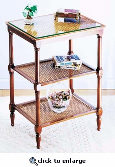 Caned 3-Tier Table (UPS $45)