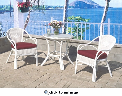 Costa Del Mar Cafe Set/3 (UPS $95)(Table, 2 Chairs)