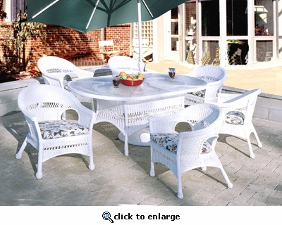 Seabreeze Oval Dining Set/7 (MF)