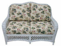 Lanai Loveseat Cushions with Fran's Indoor/Outdoor Fabrics (UPS $50)