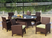 Maroma Oval Dining Set of Seven (MF)