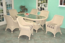 Tahiti Oval Dining Set/7 (MF)