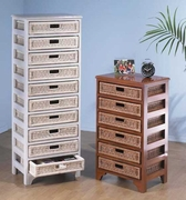 Mahogany Wicker Storage Carts Click picture for details