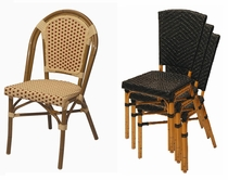 """Stackable Cafe """"All Weather"""" Chairs"""