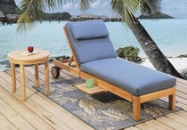 Teakwood Chaise Lounge (MF)