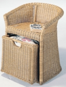 Wicker Hamper Chair