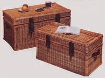 Set/2 Wicker Steamer Trunks (UPS $55)