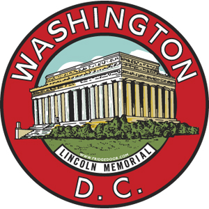 Washington DC Lincoln Memorial Circle Magnet