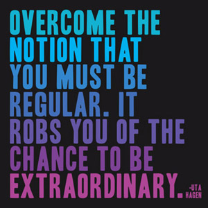 To Be Extraordinary - Uta Hagen Magnet