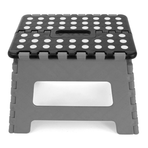 kikkerland Easy Fold Step Stool Grey 9""