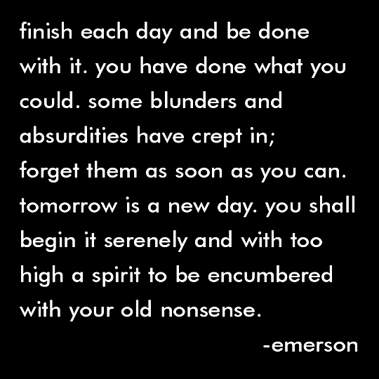 Finish Each Day - Emerson Quotable Magnet