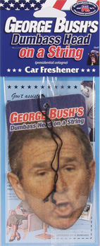 Bush's Dumbass Head on a String Air Freshener